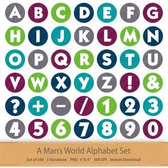 Boy Digital Alphabet Gentleman Digital Alphabet by GoneDigital