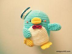 Pingüino Tuxedo Sam Amigurumi - Patrón Gratis en Español aquí: www.mediafire.com/view/99oqdlaw9mauhh7/TUXEDO_SAM_PDF.pdf