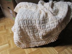 Ravelry: Project Gallery for Ruffled Blocks Baby Blanket pattern by Dawn Brocco