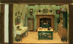 Photos of Roomboxes from the Fall 2010 Seattle Dollhouse Miniature Show: Same Design, Different Feel