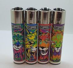 Brand New 4 Clipper Lighters Lynx Collection Full Series Refillable Electronic Vaporizer, Clipper Lighter, Lynx, Vape, Brand New, Smoke, Collections, Accessories, Lighter