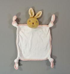 Doudou plat lapin coton blanc Kaloo