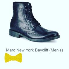 My new NYC kicks-  class with the Baycliff, a classic wingtip boot that features intricate brogue detailing to complete a sophisticated look. This super lux boot boasts a sleek leather upper, fabric lining, waxy finish lace and durable outsole.