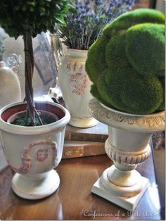 DIY French Pots from Goodwill finds...