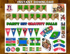 GRAVITY FALLS Printable Party Kitgravity by ImprimiblesSusaneda