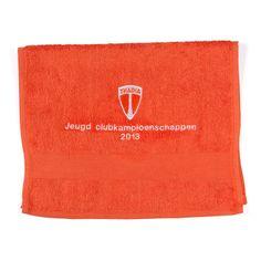 Sporthanddoeken voor de Jeugd Clubkampioenschappen bij tennisvereniging Thadia.