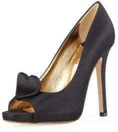 Kate Spade Collana Satin Heart Pump, Black on shopstyle.com