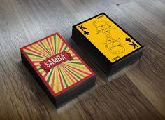"Baralho ""Samba"" by Israel Lucas, via Behance Samba, Andre Dias, Personal Branding, Trending Memes, Funny Jokes, Playing Cards, Entertaining, Israel, Behance"