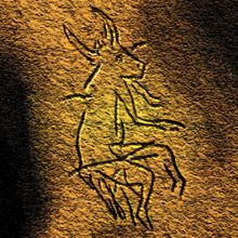 Picture of a half-human, half- animal being in a Paleolithic cave painting in Dordogne, France. Archaeologists believe that a picture such as this may be evidence of early shamanic practices. (paraphrase)       ~ Paleolithic - Wikipedia, the free encyclopedia