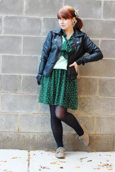 Green & Mint and a Moto Jacket