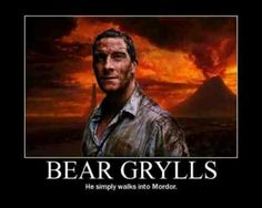 Bear grylls Nerd moment...