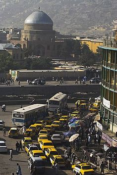 Early morning traffic, Kabul, Afghanistan
