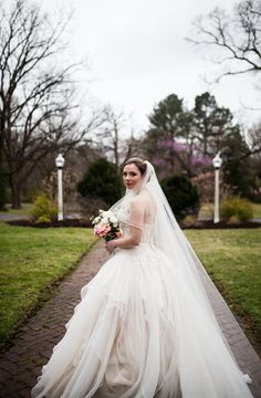 Amanda's stunning #weddingdress James and Amanda's #memphis wedding. Photo // Evan David Photography