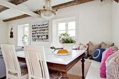 Dining with window bench seating