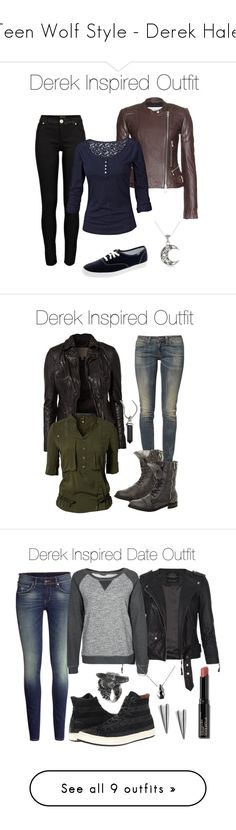"""""""Teen Wolf Style - Derek Hale"""" by stardustonthepiano ❤ liked on Polyvore featuring River Island, Closed, Fat Face, Keds, MuuBaa, G-Star, Levi's, David Yurman, Converse and AllSaints"""