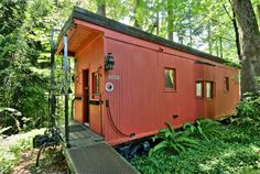 Stu would love to have his own train caboose.  @ 5045 Forest Ave SE  Mercer Island, WA 98040