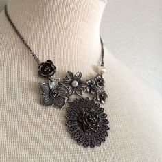 """Chunky Floral Necklace Chain Length is 16 1/2""""-19"""" Beautiful with everything! bp Jewelry Necklaces"""