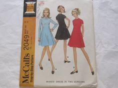 Vintage sewing Pattern  Mccalls 2049 1960s  by rosesvintagesewing, $7.00