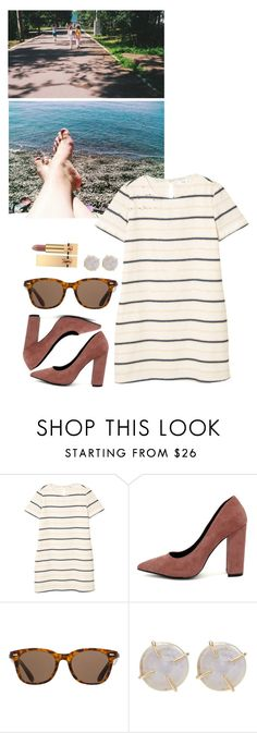 """summer morning"" by asmin ❤ liked on Polyvore featuring MANGO, Qupid, ToyShades, Melissa Joy Manning and Yves Saint Laurent"