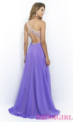 Image of One Shoulder Prom Dress by Blush 9965 Style: BL-9965 Back Image