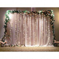 52 Ideas For Wedding Backdrop Photobooth Mariage Diy Photo Booth Backdrop, Diy Wedding Backdrop, Wedding Photo Booth, Backdrop Decorations, Wedding Stage, Wedding Centerpieces, Wedding Events, Wedding Decorations, Birthday Decorations