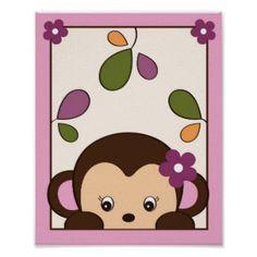 Jacana Monkey Jungle Nursery Wall Art Print