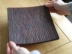 Walnut Corner Dish by Atelier tree song