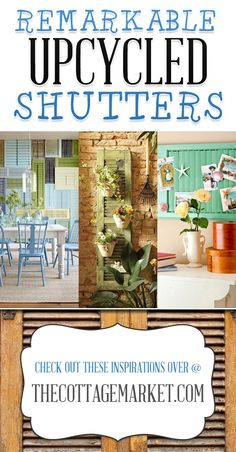 Great ideas! 25 Repurposed Shutter Decorating Ideas by LoriTheQween
