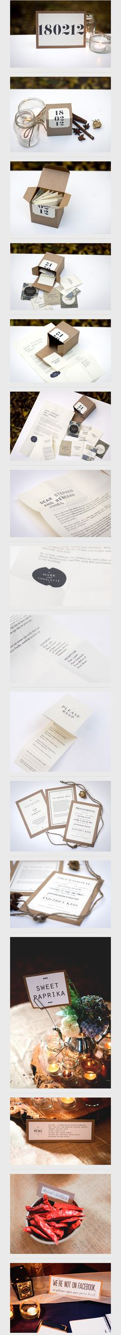 Get Hitched. Love the simplicity yet cleverness of this invitation using #packaging PD
