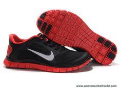 New Black Red Mens Nike Free 4.0 V3 579958-018