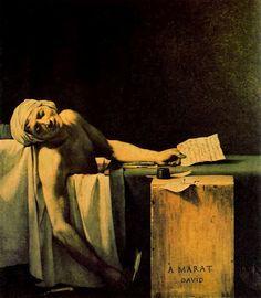 Jacques-Louis David: La muerte de Marat David, Painting, Art, Death, Windows, Art Background, Painting Art, Kunst, Paintings