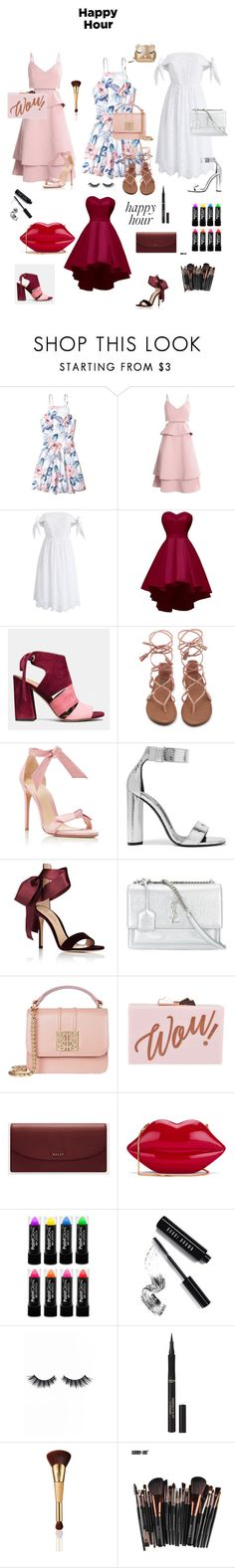 """-HappyHour-"" by valentina2 ❤ liked on Polyvore featuring Hollister Co., Chicwish, Coach, Alexandre Birman, Tom Ford, Gianvito Rossi, Yves Saint Laurent, Ted Baker, Bally and Lulu Guinness"