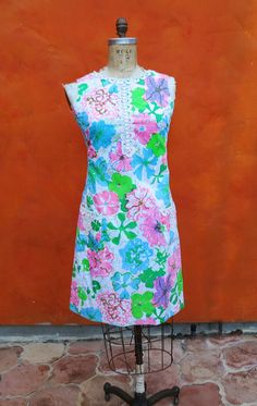 Vintage 1950s 1960s Lilly Pulitzer Floral by SweetPickinsShop, $120.00  Dress