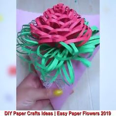 Beautiful Paper Crafts - - Beautiful Paper Crafts Paper crafts for kids Kreative Ideen zum Papierhandwerk. Paper Flowers Craft, Paper Crafts Origami, Paper Crafts For Kids, Flower Crafts, Easter Crafts, Fabric Flowers, Fabric Crafts, Diy Crafts Hacks, Diy Crafts For Gifts