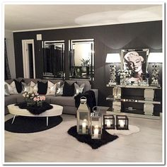 Having small living room can be one of all your problem about decoration home. To solve that, you will create the illusion of a larger space and painting your small living room with bright colors c… Glam Living Room, Cozy Living Rooms, Home And Living, Living Room Furniture, Modern Living, Rustic Furniture, Modern Room, Small Living, Modern Decor