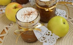 Pumpkin Apple Pie in a jar with Marzipan Creme