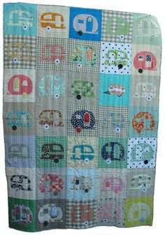 Someone made a cute camper quilt!  Wish peple would credit the artisan!