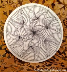 I've had some fun with Maryhil l and the pre-strung Zentangle® Zendalas.  Both of these used the same pre-strung tile pattern, and in ea...
