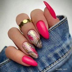 Fancy Nails, Pink Nails, Cute Nails, Summer Acrylic Nails, Best Acrylic Nails, Shellac Nails, Nail Manicure, Stylish Nails, Trendy Nails