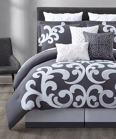 Enjoy plush comfort with this pure cotton comforter set in monochromatic tones that add a rich layer to your bedroom.