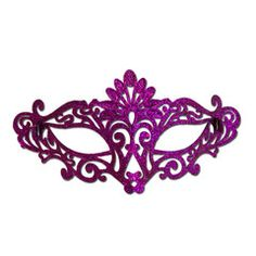 Purple Elegant Glitter Masquerade Mask | Simply Party Supplies