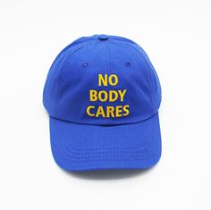 NOBODY CARES CAP  sold by STORE CAT CAT. Shop more products from STORE CAT CAT on Storenvy, the home of independent small businesses all over the world.