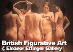 British Figurative Art: Eleanor Ettinger Gallery. Recently, TheGreatNude visited the Eleanor Ettinger Gallery on 57th Street to see their exhibition British Figurative Art, a wonderful collection of British artists, several of whom focus on works featuring the nude. We were fortunate enough to have gallery owner Fran Bradford give us a personally guided tour.