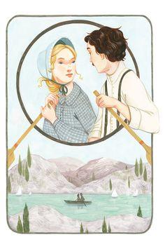 """Ilustración de """"Little Women"""" por la admirada Rebecca Green."""