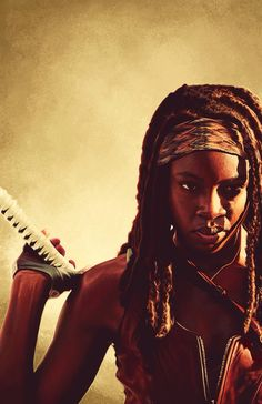 Michonne (pronounced MI-SHOWN) is a fictional character from the horror drama series The Walking Dead. Created by Robert Kirkman, Tony Moore, Charlie Adlard she made her debut in The Walking Dead #19 in 2005. Michonne (portrayed by Danai Gurira) is a member of Rick's group, and a main character in both series. She is perceived by the other characters as one of the strongest members of the survivors, and frequently participates in the violent, but, necessary actions of the group. Armed with…