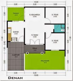 Denah Rumah Minimalis Type 70 1 Lantai Bisa Jadi Inspirasi