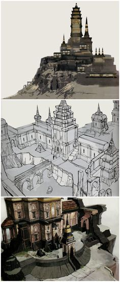 Tevinter architecture in The Art of Dragon Age: Inquisition