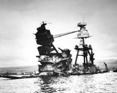 After Pearl Harbor: Rare Photos From the American Home Front - PHOTO: The exposed wreckage of the battleship USS Arizona. Rare Historical Photos, Rare Photos, Vintage Photos, Ww2 Photos, Naval History, Military History, Ww2 History, History Class, Ancient History