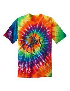 Tie Dye T-shirt Artsy Hippie Love Joy Peace by Useless2Unique