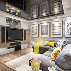 Parfaite cohabitation au sous-sol - Sous-sol - Avant après  - Cinéma maison - Décoration et rénovation - Pratico Pratiques